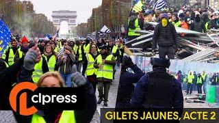 Gilets jaunes : affrontements et chaos sur les Champs-Elysées (24 novembre 2018, Paris) [4K]