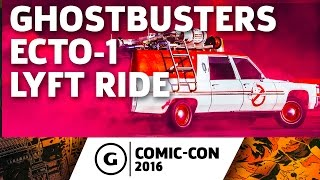 Ghostbusters Ecto-1 Lyft Ride - Comic-Con 2016
