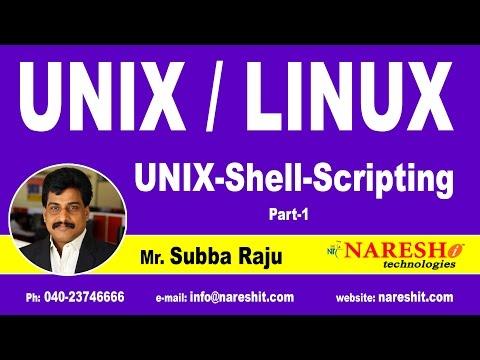 Unix Shell Scripting Part 1   UNIX Tutorial   Mr. Subba Raju