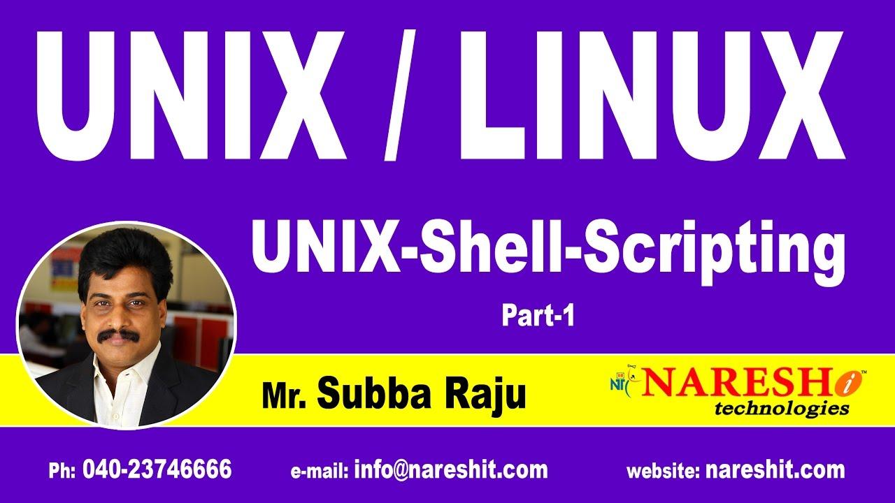 Download Unix Shell Scripting Part 1 | UNIX Tutorial | Mr. Subba Raju