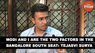 Modi and I are the two factors in the Bangalore South seat: Tejasvi Surya