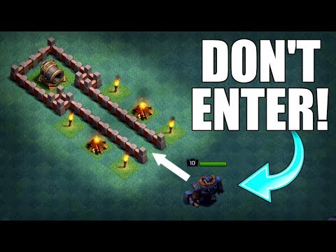 GIANT CANNON VALLEY OF DEATH!! - Clash Of Clans - DO NOT ENTER! GIANT CANNON Vs BATTLE MACHINE!