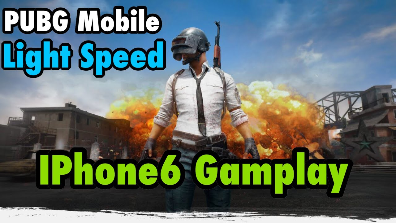 PUBG : PlayerUnknow battleGrond Light Speed Mobile Iphone 6 IOS/android Gamplay