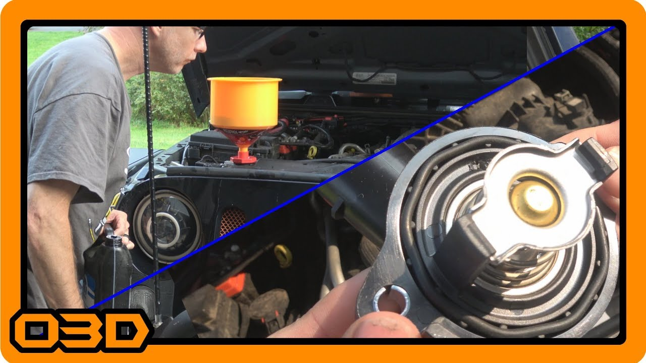Thermostat Housing Replace And Bleeding Air From Cooling System Jeep Wrangler Engine Coolant 2015 Jk 36l