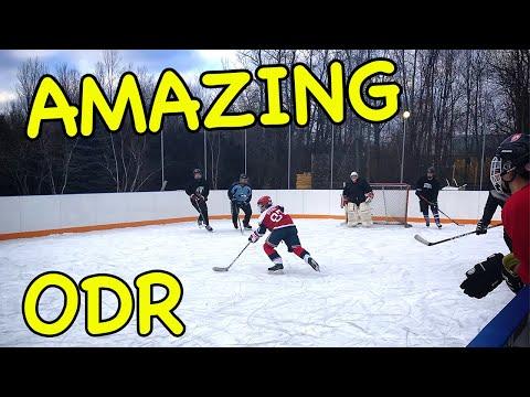 AMAZING OutDoor Refrigerated Hockey Rink Skate