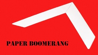How to make a easy paper boomerang that comes back to you - Origami  Boomerang