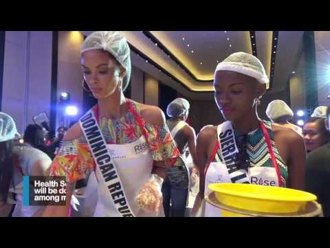Miss Universe bets pack food, lead 'Rise Against Hunger'