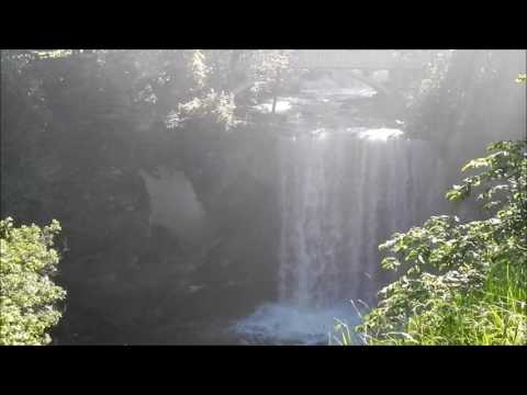 Relaxing Sounds of the Minneopa Falls Minneopa State Park Minnesota May 25, 2016