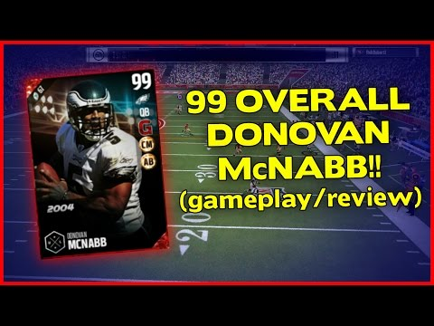 MUT 17 | 99 ULTIMATE LEGEND DONOVAN McNABB GAMEPLAY/REVIEW!! | MADDEN 17 ULTIMATE TEAM