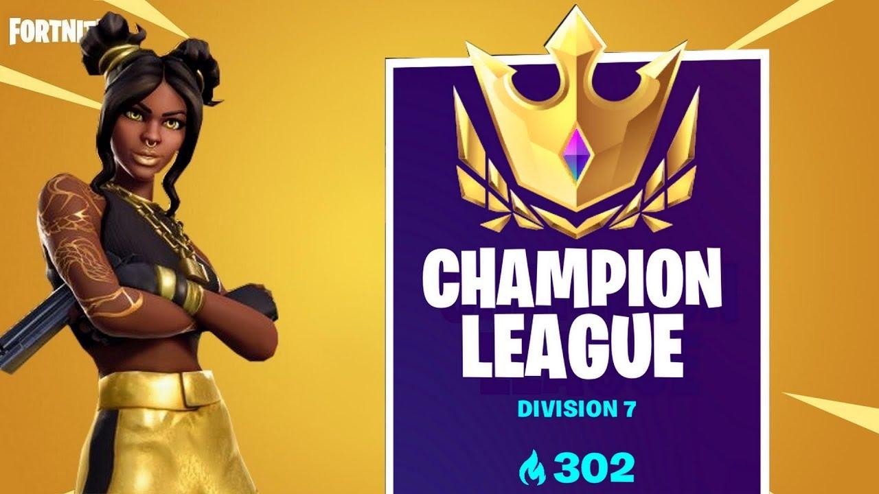 i got in champion league in fortnite - fortnite champions league