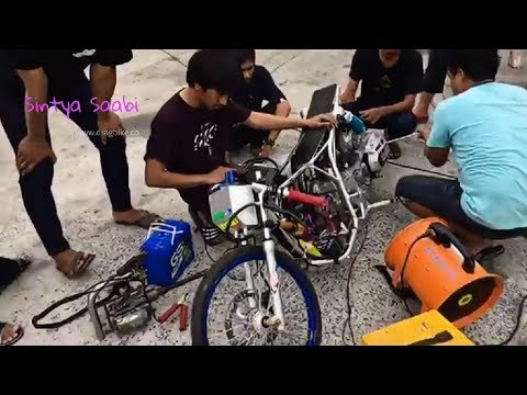 [ 5detk] Drag Honda PCX 500cc Blok CBR, Test Speed & Bongkar Mesin Thailand NGO Racing