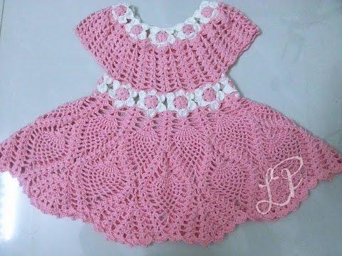 [CROCHET DRESS FOR BABY] Hướng Dẫn Móc Váy Cho Bé