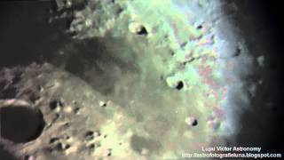 HD Astronomy Lunar craters video through 8