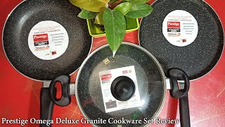 Prestige Omega Deluxe Granite Cookware set Review and unboxing - engineers cooking