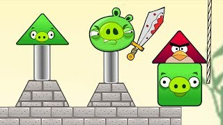 Angry Birds Piggies Out - RESCUE THE TRIANGLE BIRDS FROM THREE PIGGIES!