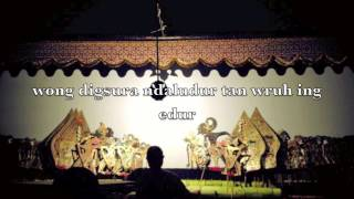 Tembang Macapat - Pangkur, The Ancient Song of Javanese People - Indonesia