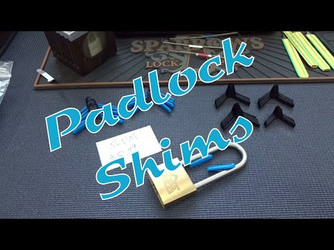 How To Open Locks With Padlock Shims 🔓 Doovi