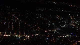 Ночной Стамбул с самолета