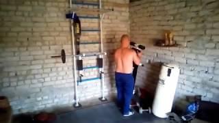 """Первая тренировка в своём """"спорт-гараже"""""""