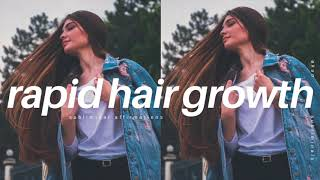 ⏏༟GROW EXTREMELY LONG HAIR IN 10 MINUTES SUBLIMINAL   Rapid Hair Growth