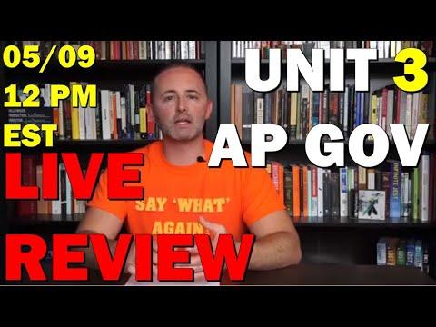 AP Gov LIVE Unit 3 Review 5/9 12 PM EST