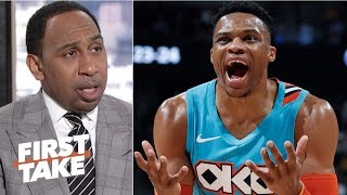 Russell Westbrook should be fined for verbal altercation with Jazz fan - Stephen A. | First Take