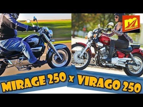 Mirage 250 x Virago 250 - Comparativo completo! Qual é a melhor moto?