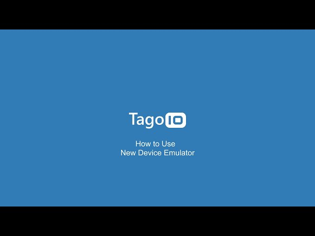 New Device Emulator from TagoIO