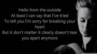 Adele   Hello  Lyrics Video HD