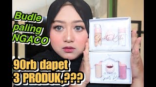 O TWO O LAGI 😱 BUNDLE MAKE UP & LIPSTICK 2 in 1 review + tutorial (SEBAGUS ITU) | Irma Melati