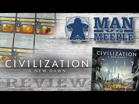 Civilization: A New Dawn (FFG Games) Review by Man Vs Meeple