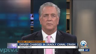 Driver charged with DUI after fatal crash into South Bay canal