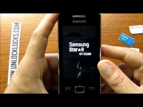 How To Unlock Samsung Star II GT-S5260 By Unlock Code From UnlockLocks.COM