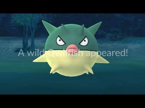Catching Qwilfish Pokémon GO Second Generation