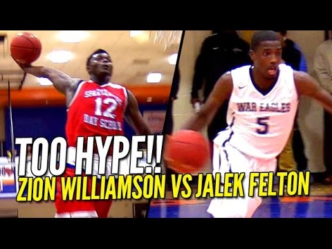 Zion Williamson vs Jalek Felton CRAZY HYPE Game at CFA Classic! FULL Highlights!!