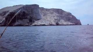 pescando un barrilete, en el Farallon, sinaloa