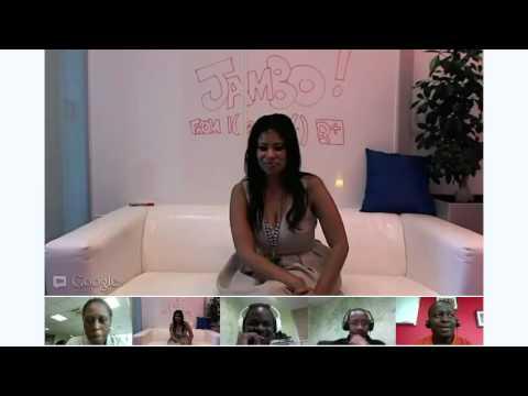 Julie Gichuru Hangout with Kipchoge Keino