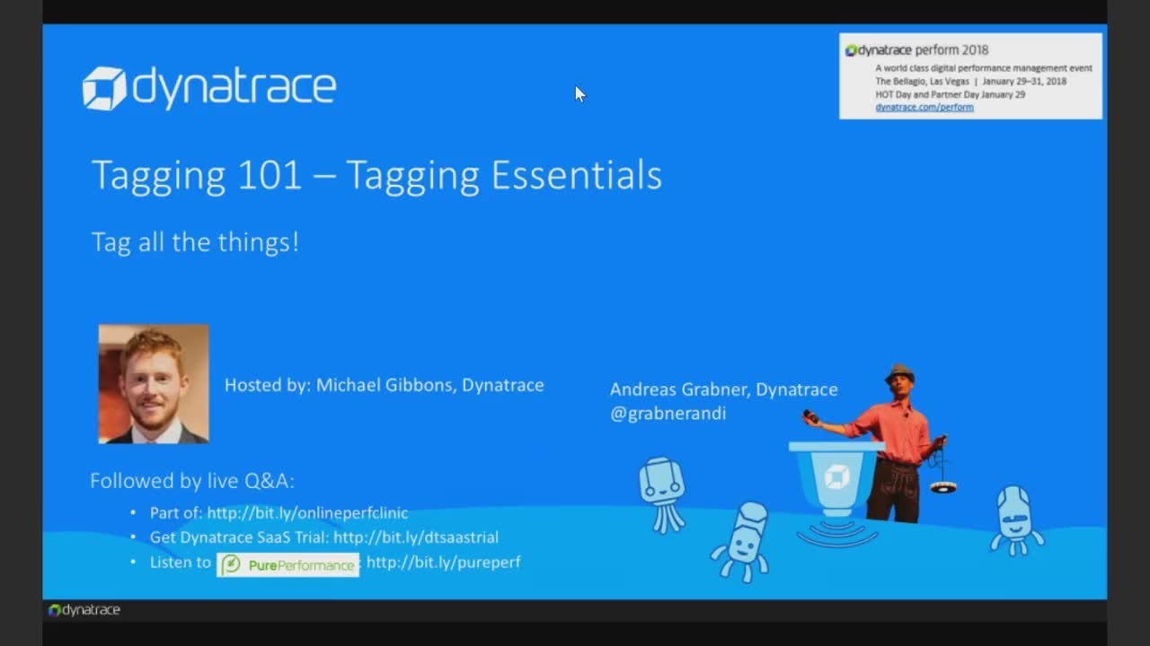 Online Perf Clinic – 101 Tagging Essentials with Dynatrace