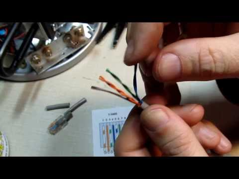 #124: How to install an RJ45 connector on a CAT5 Ethernet network Patch Cable - DIY Repair
