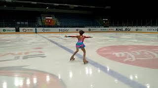 Вероника на соревнованиях по фигурному катанию 25.12.2017