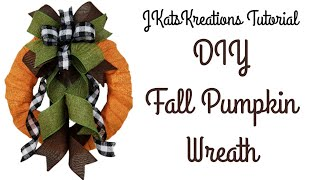 Easy Fall Pumpkin Wreath Tutorial/DIY Fall Decor/How to Make a Fall Wreath