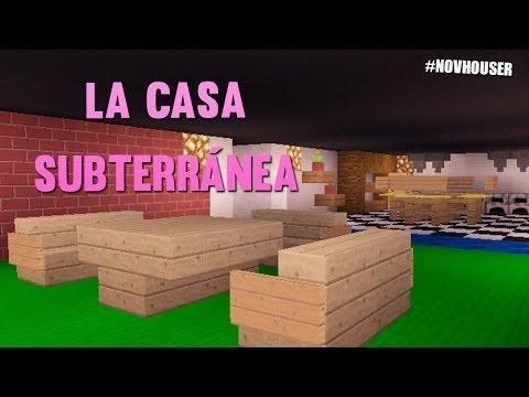 Casa subterranea para minecraft pe youtube for Casa moderna en minecraft pe 0 16 0