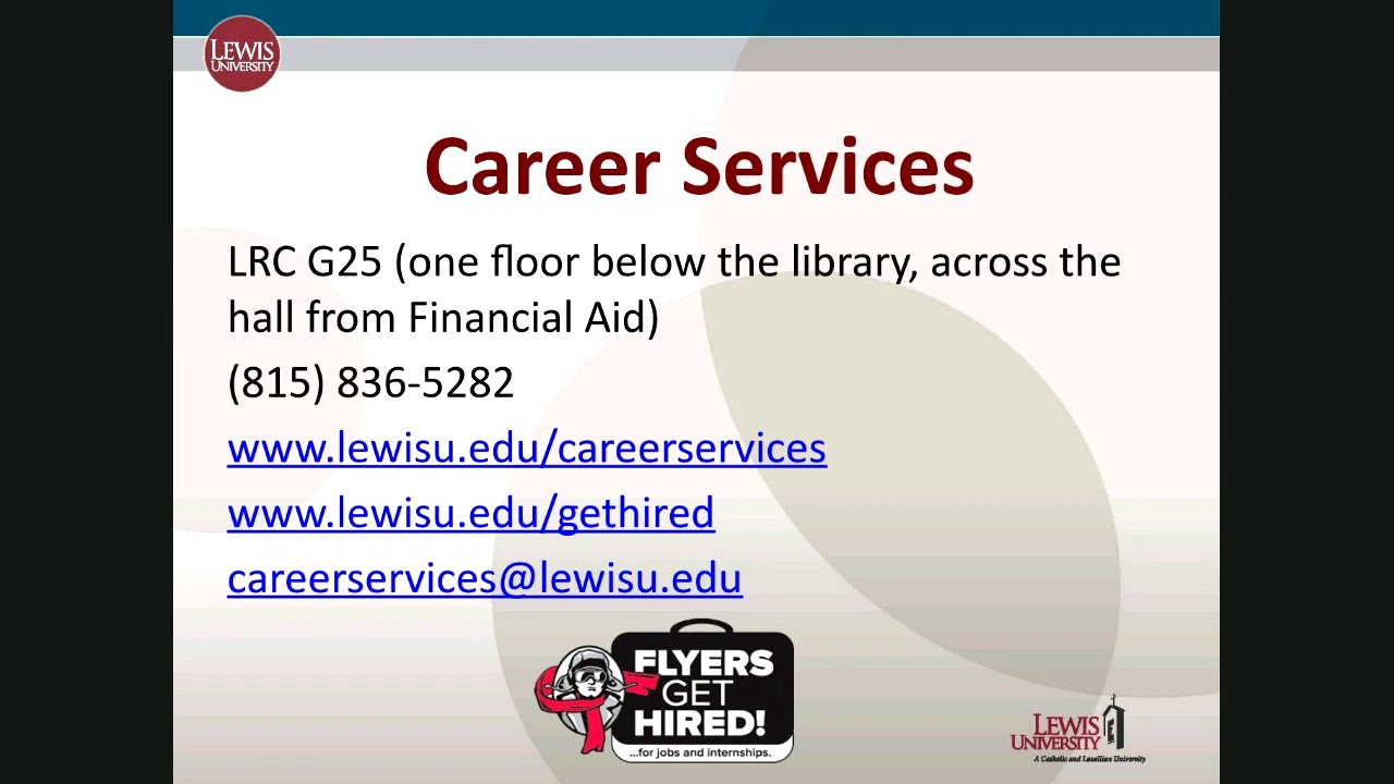 Lewis University Career Services Students