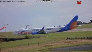 Boris Johnson Arriving and Leaving Leeds bradford Airport 13/08/19