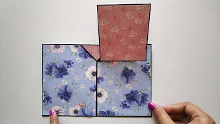 Standing Pop Up Photo Card Tutorial | Upside Down Photo Pop Up | By Crafts Space