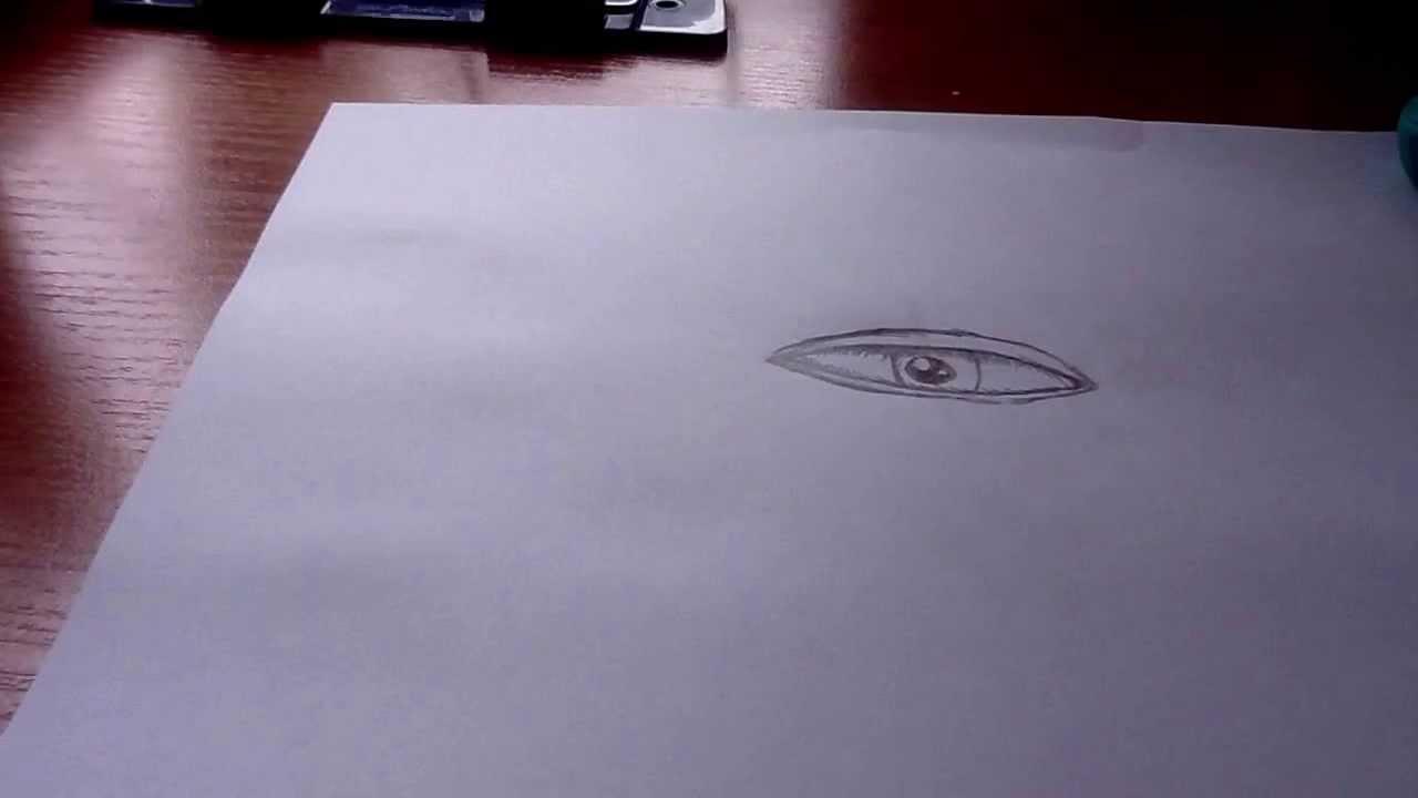 Как красиво нарисовать глаз - YouTube