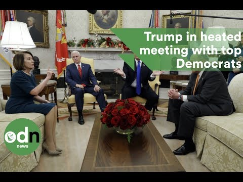 Trump in heated White House meeting with top Democrats over border security