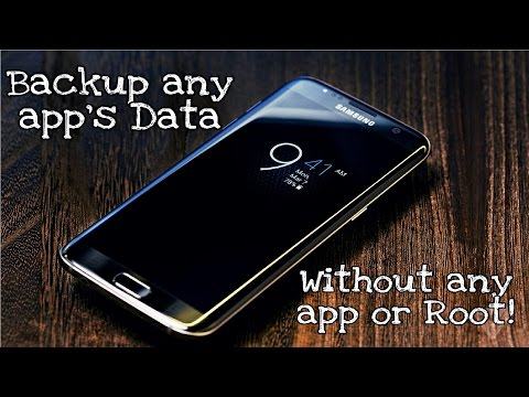 HOW TO BACKUP ANY APP AND IT'S DATA (NO ROOT / PC / INTERNET REQUIRED ! )
