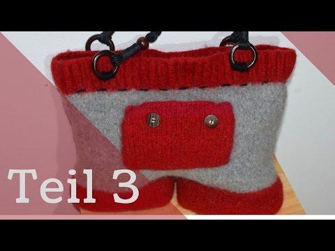 Teil 3 Bavariatasche stricken Tasche stricken und filzen | Anleitung