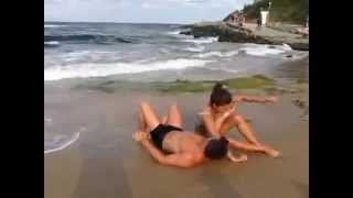 Hot Couple Enjoying Evening At Beach